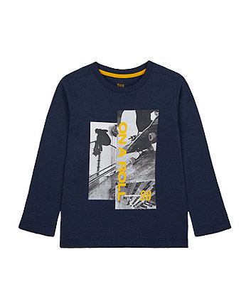 Mothercare Navy Skate T-Shirt
