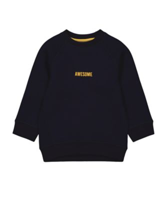 Mothercare Millenium Street Navy Awesome Scuba Sweater