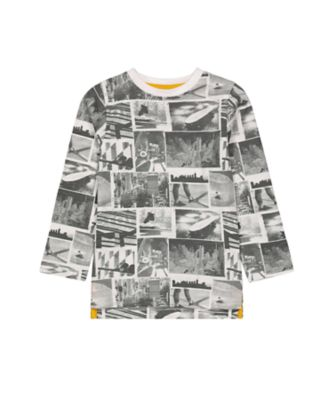Mothercare Millenium Street White Photo Allover Print Long Sleeve T-Shirt