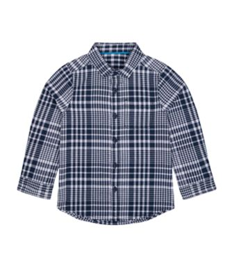 Mothercare Millenium Street Navy Check Seersucker Shirt