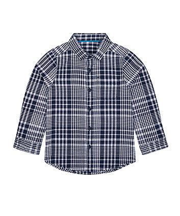 Mothercare Navy Check Seersucker Shirt