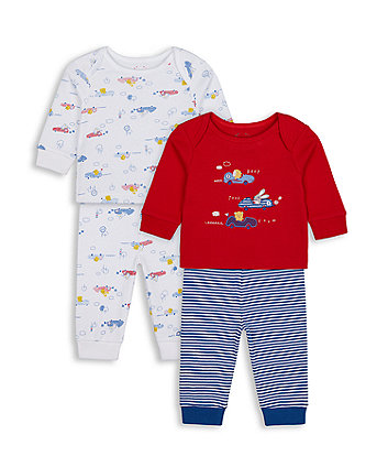 Mothercare Beep Beep Pyjamas - 2 Pack