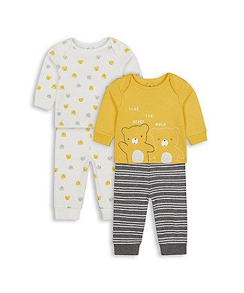 Mothercare Bear Friends Pyjamas - 2 Pack