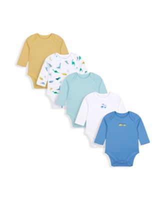 Mothercare Boys Mummy And Daddy Long Sleeve Bodysuits - 5 Pack
