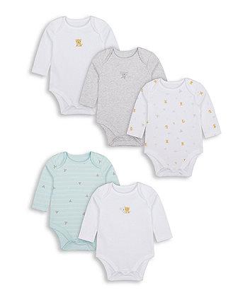 Mothercare Koala Bodysuits - 5 Pack