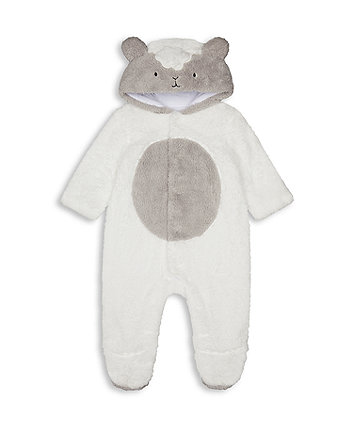 Mothercare Little Lamb Fluffy All In One