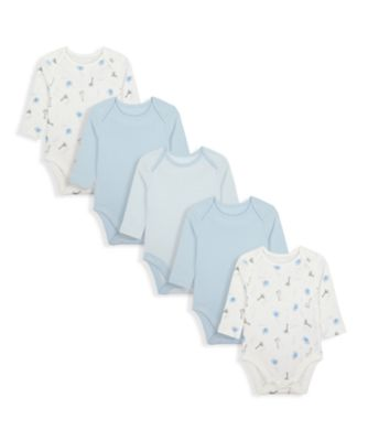 Mothercare My First - Safari Bodysuits - 5 Pack