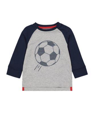 Mothercare MC61 Raglan Football Long Sleeve T-Shirt