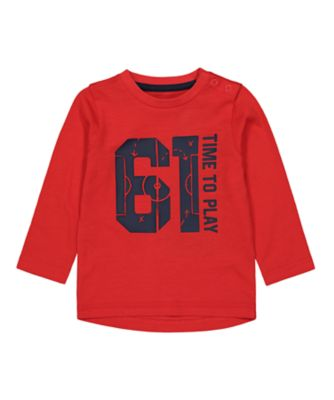 Mothercare MC61 Red 61 Long Sleeve T-Shirt