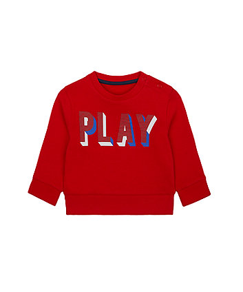 Mothercare Red Play Sweat Top