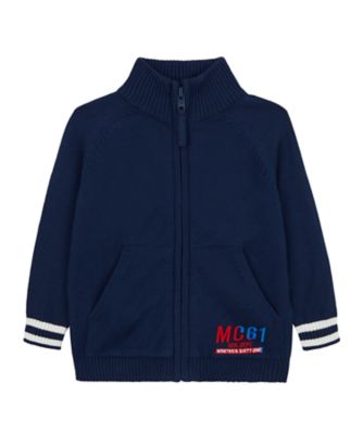 Mothercare Mc61 Navy Knitted Zipthru Unlined Bomber