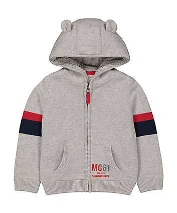 Mothercare Grey Borg-Lined Hoody