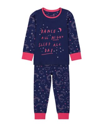 Mothercare Girls Dance All Night EPP Pyjamas