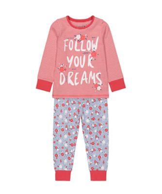 Mothercare Girls Follow Your Dreams EPP Pyjamas