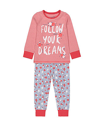 Mothercare Follow Your Dreams Pyjamas
