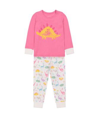Mothercare Girls Dinosaur Pink EPP Pyjamas