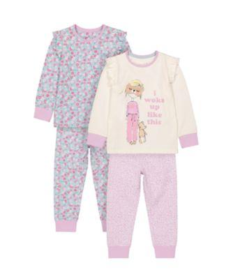 Mothercare Girls I Woke Up like Pyjamas - 2 Pack