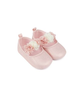 Mothercare Baby Girls Shimmer Corsage Pram Shoe