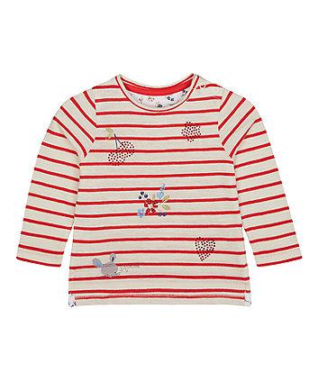 Mothercare Striped Diamante T-Shirt