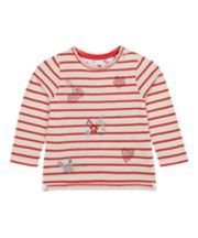Mothercare Striped Diamante T-Shirt