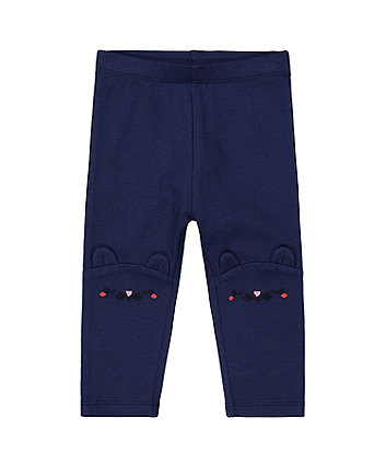 Mothercare Navy Novelty Mouse Leggings