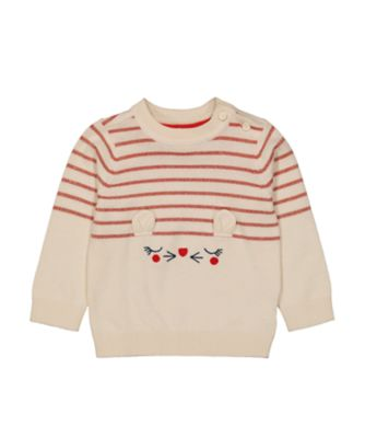 Mothercare Autumn Orchard Cream Mouse Jumper