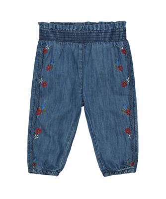 Mothercare Autumn Orchard Dark Wash Denim Embordiery Unlined Jean