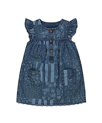 Mothercare Denim Patchwork Dress