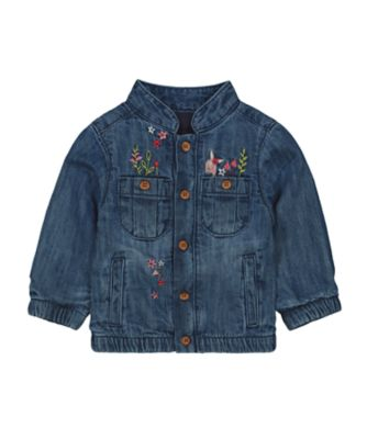 Mothercare Forest Midwaist Denim Embroideried Jacket