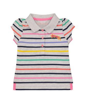 Mothercare MC61 Stripe Polo T-Shirt