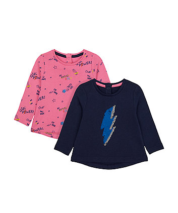 Mothercare Girl Power Reversible-Sequin Sweat Top And Hoody Set