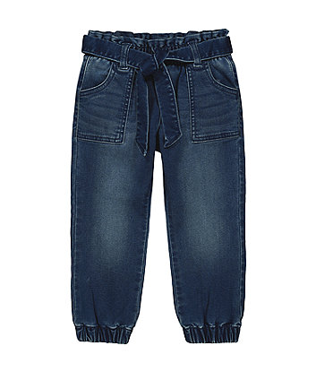 Mothecare Fashion Paperbag Waist Jeans - Mid Wash