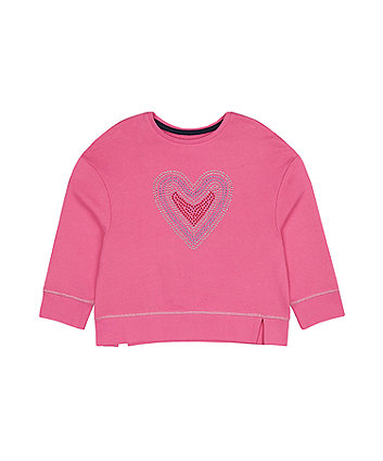 Mothercare Pink Heart Sweat Top