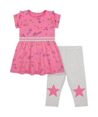 Mothercare MC61 Pink And Pink - 2 Piece Set
