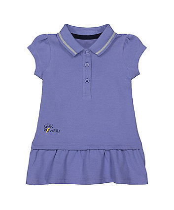 Mothercare Purple Pique Polo Dress
