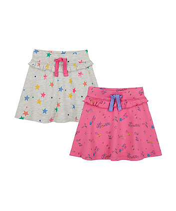 Mothercare Girl Power Jersey Skirts - 2 Pack
