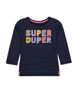 Mothercare MC61 Navy Super Long Sleeve T-Shirt