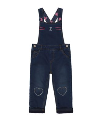 Mothercare MC61 Dark Wash Novelty Bunny Dunagree Set