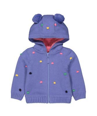 Mothercare MC61 Purple Spot Novelty Hoody