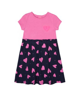 Mothercare MC61 Heart Short Sleeve Twofer Dress