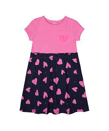 Mothercare Sequin Heart Twofer Dress
