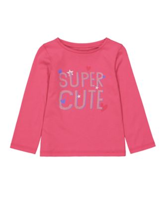 Mothercare MC61 Pink Super Cute Long Sleeve T-Shirt