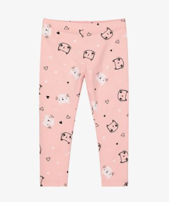 Mothercare Statement Pink Cat Allover Print Legging
