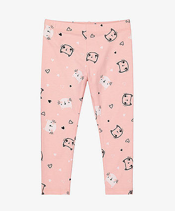 Mothercare Pink Cat Leggings