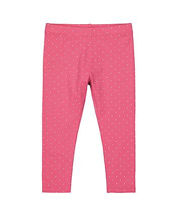 Mothercare Pink Spot Leggings