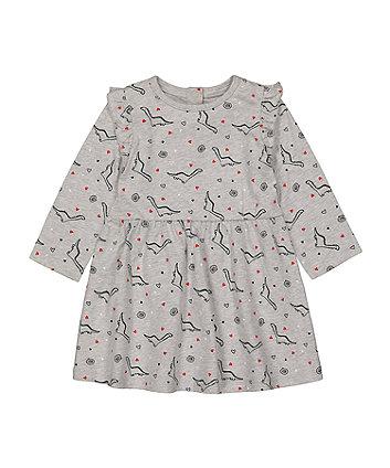 Mothercare Fashion Dinosaur Jersey Dress