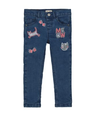 Mothercare Denim Flow Midwash Cat Badge Skinny Jean