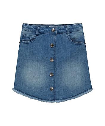 Mothercare A-Line Denim Skirt - Light Wash