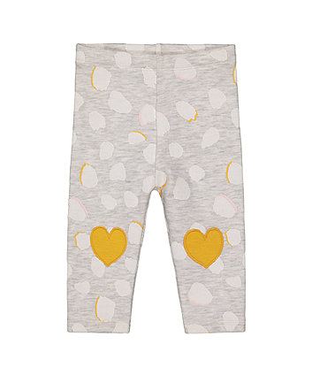 Mothercare Grey Heart Leggings