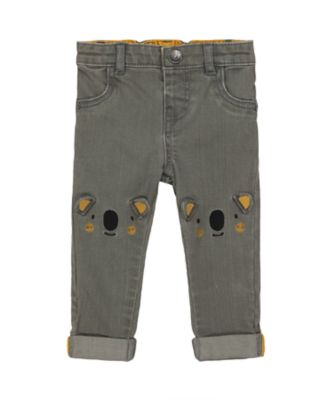 Mothercare Change Your Spots Grey Novelty Knee Jean